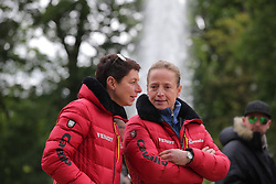 Werth, Isabell (GER);<br /> Theodorescu, Monica (GER) <br /> Wiesbaden - Pfingstturnier 2016<br /> © www.sportfotos-lafrentz.de/Stefan Lafrentz