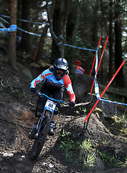 Lutz Weber of NS-Bikes Factory Racing during day one of the 2017 UCI Mountain Bike World Cup at Fort William. PRESS ASSOCIATION Photo. Picture date: Saturday June 3, 2017. Photo credit should read: Tim Goode/PA Wire. RESTRICTIONS: Editorial use only, no commercial use without prior permission