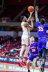 NORMAL, IL - January 29: Dedric Boyd during a college basketball game between the ISU Redbirds and the University of Evansville Purple Aces on January 29 2020 at Redbird Arena in Normal, IL. (Photo by Alan Look)