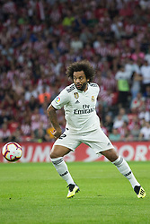September 15, 2018 - Marcelo of Real Madrid in action during the match played in Anoeta Stadium between Athletic Club and Real Madrid CF in Bilbao, Spain, at Sept. 15th 2018. Photo UGS/AFP7 (Credit Image: © AFP7 via ZUMA Wire)