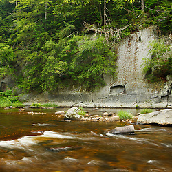 The Westfield River in Chesterfield Gorge in Chesterfield, Massachusetts.