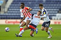 Stoke City's Mikel John Obi is tackled by Preston North End's Ryan Ledson<br /> <br /> Photographer Dave Howarth/CameraSport<br /> <br /> The EFL Sky Bet Championship - Preston North End v Stoke City - Saturday 26th September 2020 - Deepdale - Preston <br /> <br /> World Copyright © 2020 CameraSport. All rights reserved. 43 Linden Ave. Countesthorpe. Leicester. England. LE8 5PG - Tel: +44 (0) 116 277 4147 - admin@camerasport.com - www.camerasport.com