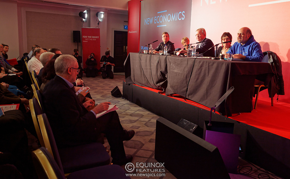 London, United Kingdom - 10 February 2018<br /> Leader of the Labour Party Jeremy Corbyn, speaking at the Labour Party's Alternative Models of Ownership Conference where he spoke about new 21st century forms of democratic ownership of industries.<br /> www.newspics.com/#!/contact<br /> (photo by: EQUINOXFEATURES.COM)<br /> Picture Data:<br /> Photographer: Equinox Features<br /> Copyright: ©2018 Equinox Licensing Ltd. +448700 780000<br /> Contact: Equinox Features<br /> Date Taken: 20180210<br /> Time Taken: 15501476
