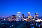 Century City Skyline In Los Angeles At Dusk