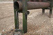 Drain outflow pipe emptying on beach Felixstowe, Suffolk, England