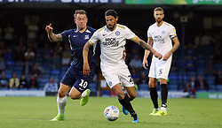 George Boyd of Peterborough United in action with Simon Cox of Southend United - Mandatory by-line: Joe Dent/JMP - 20/08/2019 - FOOTBALL - Roots Hall - Southend-on-Sea, England - Southend United v Peterborough United - Sky Bet League One