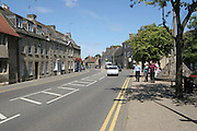 Photograph of the high street looking toward the market square in the South Northamptonshire town of Higham Ferrers
