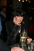 Christianne Amanpour, A A Gill party to celebrate the  publication of Table Talk, a collection of his reviews. Hosted by Marco Pierre White at <br />Luciano, 72 St James's Street, London,. 22 October 2007, -DO NOT ARCHIVE-© Copyright Photograph by Dafydd Jones. 248 Clapham Rd. London SW9 0PZ. Tel 0207 820 0771. www.dafjones.com.