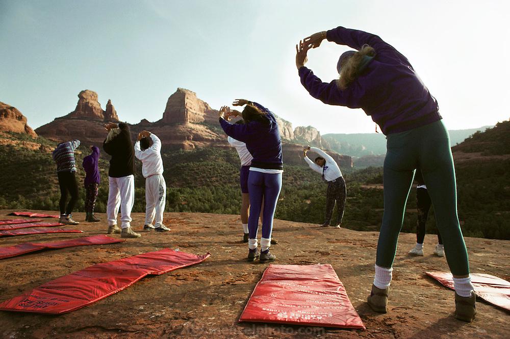 Yoga/Meditation classes with Global Fitness Adventures Health Spa, Sedona, Arizona..