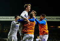 Leeds United's Patrick Bamford celebrates scoring his side's third goal with teammates<br /> <br /> Photographer Alex Dodd/CameraSport<br /> <br /> The EFL Sky Bet Championship - Leeds United v West Bromwich Albion - Friday 1st March 2019 - Elland Road - Leeds<br /> <br /> World Copyright © 2019 CameraSport. All rights reserved. 43 Linden Ave. Countesthorpe. Leicester. England. LE8 5PG - Tel: +44 (0) 116 277 4147 - admin@camerasport.com - www.camerasport.com