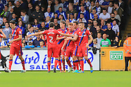 Callum Camps goal celebration 0-1  during the EFL Sky Bet League 1 match between Bristol Rovers and Rochdale at the Memorial Stadium, Bristol, England on 10 September 2016. Photo by Daniel Youngs.