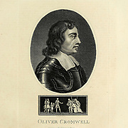 Oliver Cromwell (25 April 1599 – 3 September 1658) was an English general and statesman who, first as a subordinate and later as Commander-in-Chief, led armies of the Parliament of England against King Charles I during the English Civil War, subsequently ruling the British Isles as Lord Protector from 1653 until his death in 1658. He acted simultaneously as head of state and head of government of the new republican commonwealth. Copperplate engraving From the Encyclopaedia Londinensis or, Universal dictionary of arts, sciences, and literature; Volume V;  Edited by Wilkes, John. Published in London in 1810