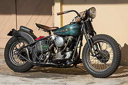 """Rod """"Grimey"""" Davis' Harley-Davidson Knucklehead at the Biltwell Bash at Robison's Cycles during the Daytona Bike Week 75th Anniversary event. FL, USA. Friday March 11, 2016.  Photography ©2016 Michael Lichter."""