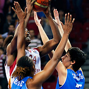 Galatasaray's Sylvia FOWLES (B) during their woman Euroleague group C matchday 9 Galatasaray between Halcon Avenida at the Abdi Ipekci Arena in Istanbul at Turkey on Wednesday, January 12 2011. Photo by TURKPIX