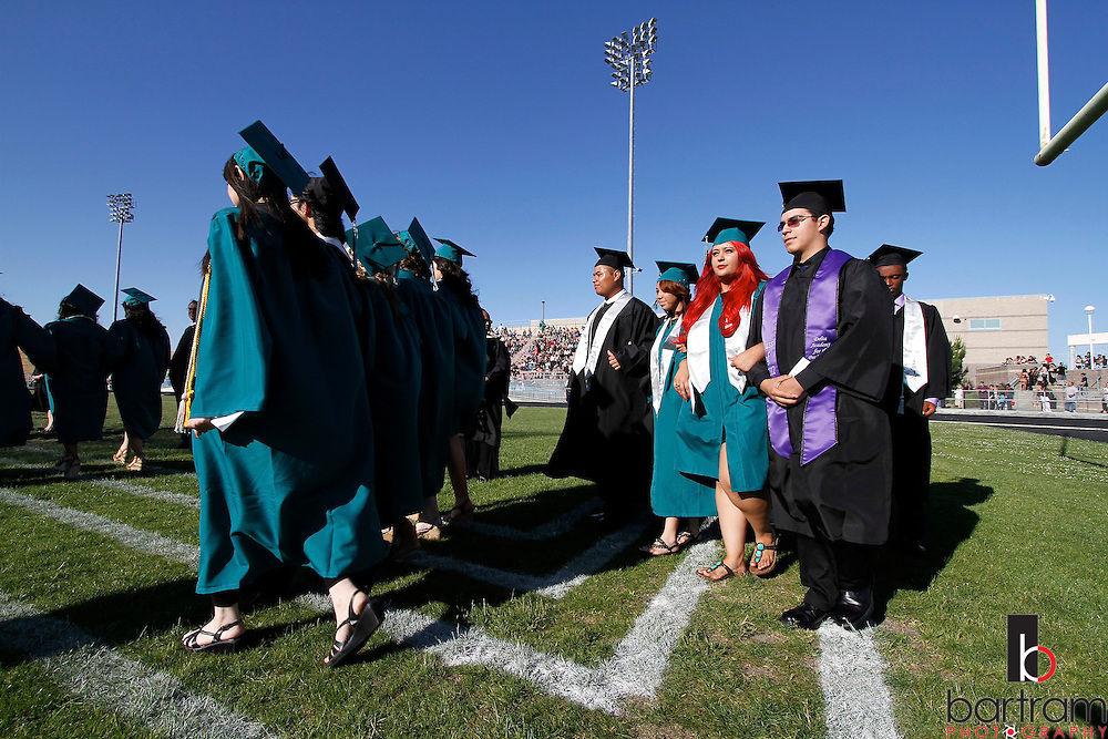 Deer Valley High School seniors march into graduation on Friday, June 8, 2012. (Photo by Kevin Bartram)