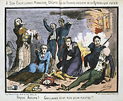Cartoon by Moloch against  the French politician Louis Adolphe Thiers (1797-1877) after the fall of the Paris Commune on 28 May 1871.