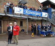 Putney, London,  Howard Winklevoss, Chairman of RowAmerica, and his wife Carol Winkelvoss, parents of Cameron Winkelvoss, and Tyler Winkelvoss, crew members of the OUBC, Oxford Blue Boat, 156th University Boat Race, River Thames, between Putney and Chiswick, on the Championship Course.  Saturday  03/04/2010 [Mandatory Credit Karon Phillips/Intersport Images]
