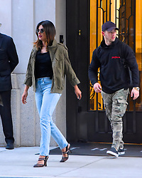 EXCLUSIVE: Nick Jonas and Priyanka Chopra seen out and about in Manhattan. 13 Jun 2018 Pictured: Priyanka Chopra, Nick Jonas. Photo credit: Moses / MEGA TheMegaAgency.com +1 888 505 6342