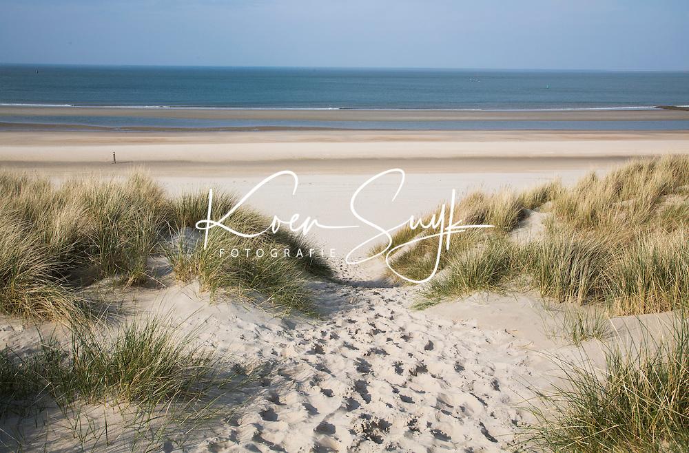 VLIELAND - Strandopgang met duinen met helmgras. .  COPYRIGHT KOEN SUYK
