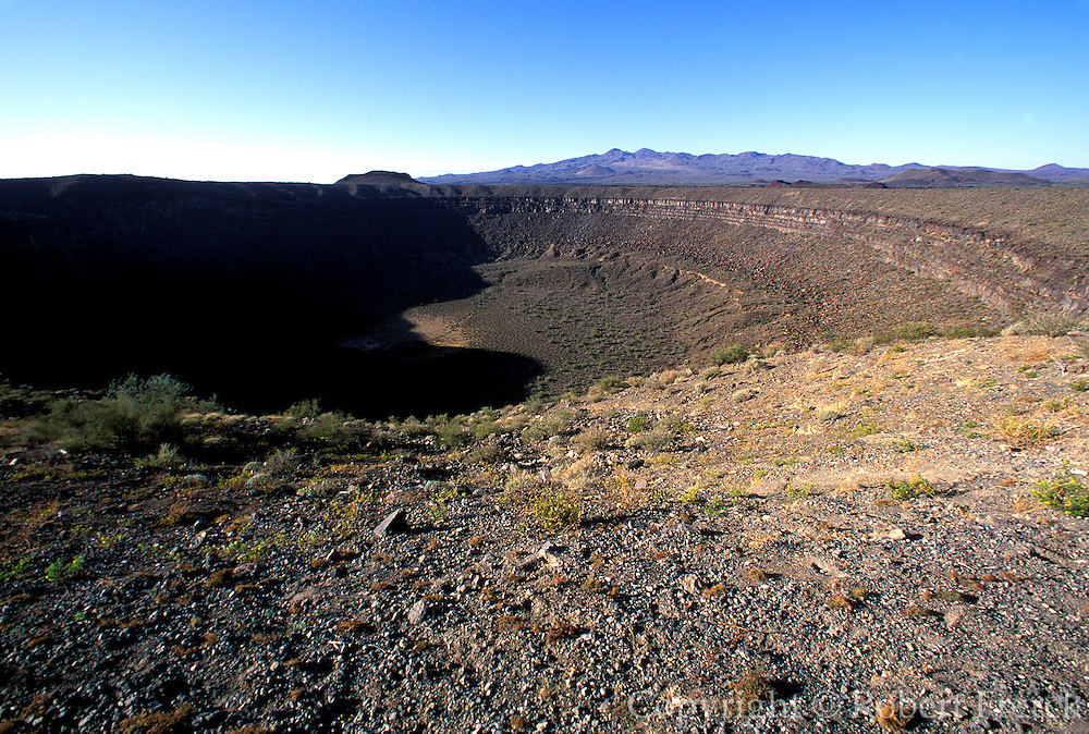 MEXICO, SONORA, SONORAN DESERT Pinacate National Park west of Nogales; Elegante Volcanic Crater 4,800' wide and 800' deep