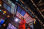Teresa Heinz Kerry and her sons are seen during the Democratic National Committee Convention at the Fleet Center in Boston, MA. 7/27/2004