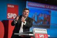 DEU, Deutschland, Germany, Berlin, 02.06.2018: Berlins Innensenator Andreas Geisel beim Landesparteitag der Berliner SPD im Hotel Andels.