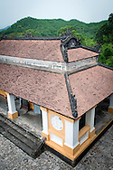 Top of a building in Khai Dinh Tomb, Hue, Vietnam, Southeast Asia