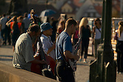 Czeck Republic, Prague, Musicians play on the Charles bridge