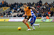 Dave Edwards on the ball during the Sky Bet Championship match between Wolverhampton Wanderers and Reading at Molineux, Wolverhampton, England on 7 February 2015. Photo by Alan Franklin.