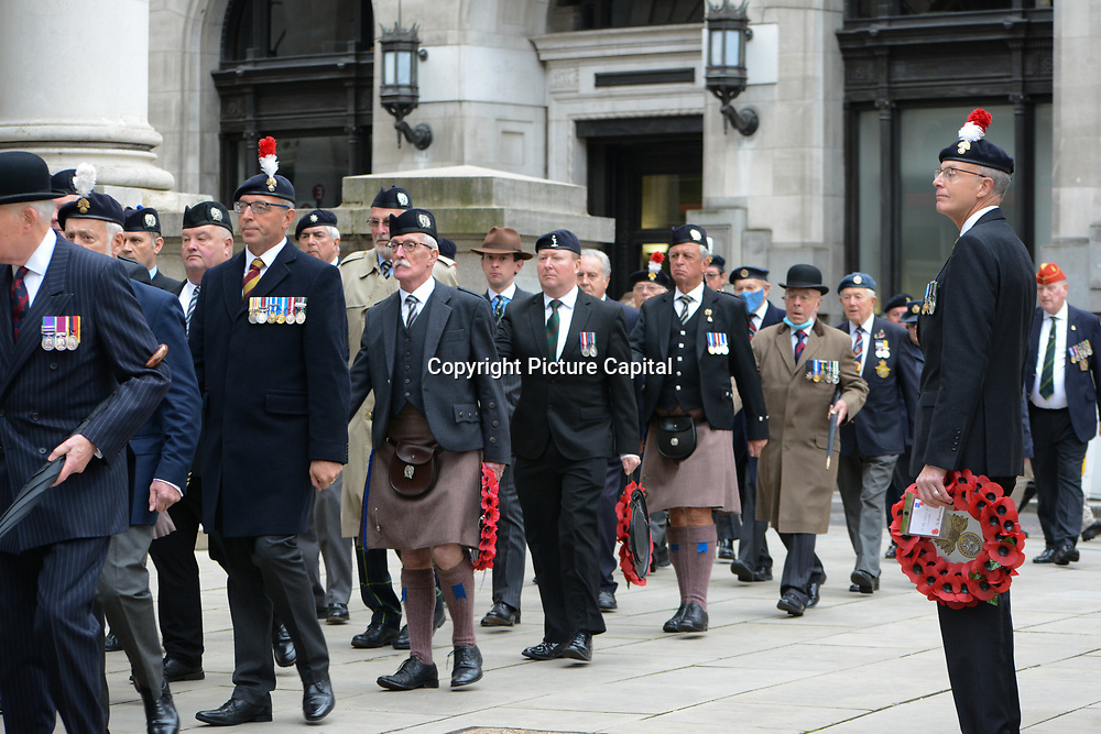 The Federation of London OCA Parade hosted The Last Huzzah at the Royal Exchange, London, UK. 3rd October 2021.