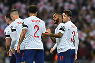 Goal - Raheem Sterling of England celebrates scoring a goal to give a 1-0 lead to the home team during the UEFA European 2020 Qualifier match between England and Czech Republic at Wembley Stadium, London, England on 22 March 2019.