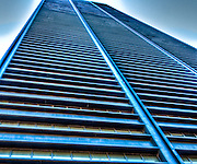 Manhattan skyscraper abstract view