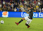 01/10/2018. Orlando, USA.  <br /> <br /> CORINTHIANS SP V PSV EINDHOVEN 2018 Florida Cup.<br /> <br /> CORINTHIANS No 17 Giovanni Augusto  scores the wining penalty after the game finished 1-1  Corinthians win 5-4 on Penalties DURING THE FIRST MATCH OF THE 2018 FLORIDA CUP BETWEEN CORINTHIANS AND PSV EINDHOVEN. <br /> <br /> At  ORLANDO CITY STADIUM, Orlando.<br /> Pic: Mark Davison /PLPA