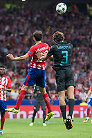 Atletico de Madrid's Juanfran Torres and Chelsea's Marcos Alonso during UEFA Champions League match between Atletico de Madrid and Chelsea at Wanda Metropolitano in Madrid, Spain September 27, 2017. (ALTERPHOTOS/Borja B.Hojas)