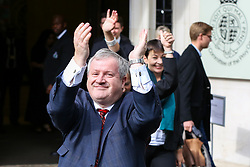 © Licensed to London News Pictures. 24/09/2019. London, UK. IAN BLACKFORD SNP outside Supreme Court in London after the court ruled that the Prime Minister Boris Johnson's decision to prorogue Parliament is unlawful. Last week the court heard an appeal in the multiple legal challenges against the Prime Minister Boris Johnson's decision to prorogue Parliament ahead of a Queen's speech on 14 October.  Photo credit: Dinendra Haria/LNP