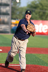 "1 June 2010: Heartland Community College President John Astroth.The Windy City Thunderbolts are the opponents for the first home game in the history of the Normal Cornbelters in the new stadium coined the ""Corn Crib"" built on the campus of Heartland Community College in Normal Illinois."