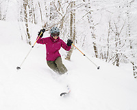 Skiing and riding in Vermont, USA
