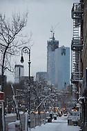 New York, west village,  under the snow