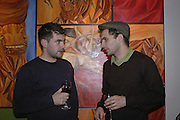 Eugene Layton and Mark Seiltz, The Real Dream, private view for an exhibition of work by Michael Rogatchi. Cork St. London.  5 December 2006. ONE TIME USE ONLY - DO NOT ARCHIVE  © Copyright Photograph by Dafydd Jones 248 CLAPHAM PARK RD. LONDON SW90PZ.  Tel 020 7733 0108 www.dafjones.com