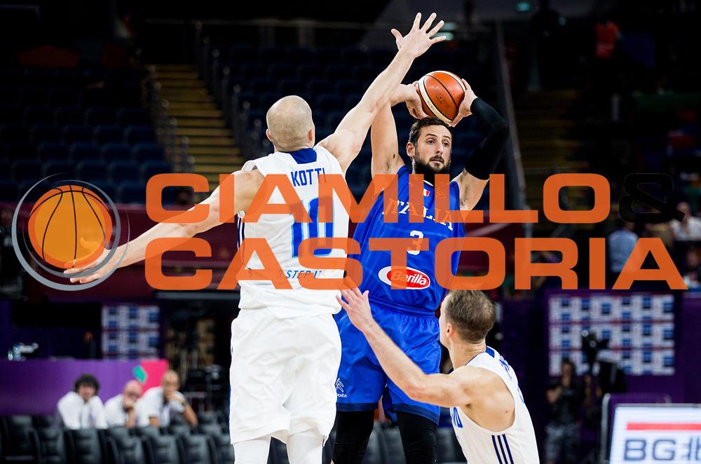 Marco Belinelli<br /> Nazionale Italiana Maschile Senior<br /> Eurobasket 2017 - Final Phase - Round of 16<br /> Finlandia Italia Finland Italy<br /> FIP 2017<br /> Istanbul, 09/09/2017<br /> Foto GiulioCiamillo / Ciamillo - Castoria