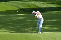 August 9, 2018 - St. Louis, MO, U.S. - ST. LOUIS, MO - AUGUST 09:  Justin Thomas (USA) takes a shot on the 17th hole during Round 1 of the PGA Championship August 9, 2018, at Bellerive Country Club in St. Louis, MO.  (Photo by Tim Spyers/Icon Sportswire) (Credit Image: © Tim Spyers/Icon SMI via ZUMA Press)