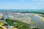 Nederland, Zuid-Holland,  Hendrik-Ido-Ambacht, 10-06-2015; Sophiapolder, eiland in de rivier de Noord en de Rietbaan. Tegenwoordig is de voormalige polder onder water gezet en is het een natuureiland met  en zoetwatergetijden. Natuurcompensatie voor aanleg van Betuweroute en HSL.<br /> Former Sophia polder, now marshland nature island near Dordrecht.<br /> between Dordrecht and Zwijndrecht.<br /> luchtfoto (toeslag op standard tarieven);<br /> aerial photo (additional fee required);<br /> copyright foto/photo Siebe Swart
