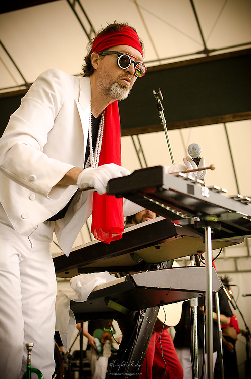 The Right Reverend Dean Dawg doing his thing on keys with Brother Joscephus and the Love Revival Revolution Orchestra at teh 2012 Appel Farm Arts & Music Festival.