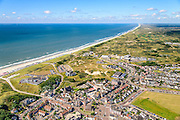 Nederland, Noord-Holland, Beverwijk, 01-08-2016; Wijk aan Zee met en Westerduinen, gezien naar de Noordzee.<br /> Village Wijk aan Zee at North sea coast.<br /> luchtfoto (toeslag op standard tarieven);<br /> aerial photo (additional fee required);<br /> copyright foto/photo Siebe Swart