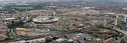 Olympic Park Panoramic Aerial 2009. Picture by Anthony Charlton