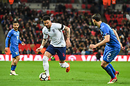 England Defender Kyle Walker (4) and Italy Defender Mattia De Sciglio (2) in action during the Friendly match between England and Italy at Wembley Stadium, London, England on 27 March 2018. Picture by Stephen Wright.