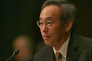 Steven Chu testifies at his confirmation hearing to become the Secretary of the Department of Energy on January 13, 2009.  Photo by Dennis Brack