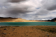 One of the himalayan lakes in Ladakh situated at the altitude over 4500 meters above sea level.