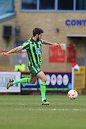 George Francomb midfielder for AFC Wimbledon (7) during the Sky Bet League 2 match between Stevenage and AFC Wimbledon at the Lamex Stadium, Stevenage, England on 30 April 2016. Photo by Stuart Butcher.