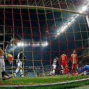 Kayserispor's goalkeeper Kayacan Erdogan (R) during their Turkish Super League soccer match Kayserispor between Besiktas at the Kadir Has Stadium in Kayseri Turkey on Saturday 05 December 2015. Photo by Kurtulus YILMAZ/TURKPIX